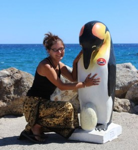 Iris Pabst and Pale the Pinguin