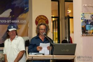 Gerhard Stelzhammer eröffnet die Paleochora Art Week 2014